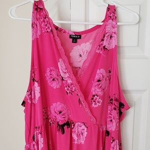 Torrid 3 floral and lace top